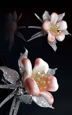 Coral and diamond jewelry collection by Tosa.