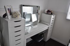 Makeup By Cheryl H: IKEA Vanity Redecoration and Makeup Storage