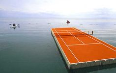 Laurent Perbos, 2005, Insular Playground, Projet de terrain de tennis flottant