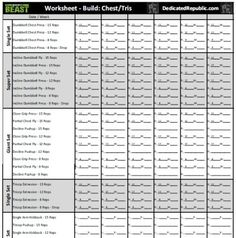 Body Beast Worksheets Dedicated Republic Workout Sheets Building