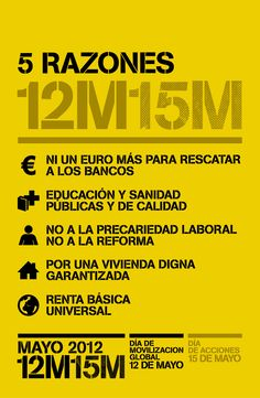 #12M15M #TOMALACALLE  #GlobalrEvolution #OWS #Occupy #15M #Globalchange #M12 #AlaPlaza12M  http://www.may12.net/