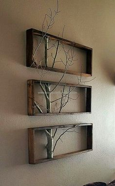 Triptych branch in a box