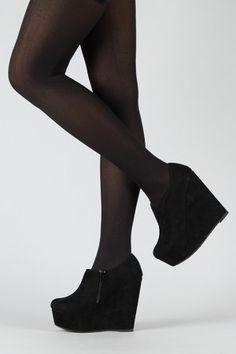 black wedge booties, Fall wear.