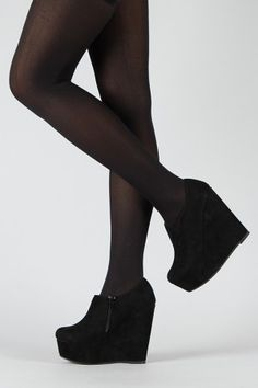 black wedge booties, gettin me some of these!