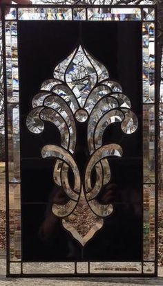 diy hw to make beveled glass Stained Glass Birds, Stained Glass Crafts, Faux Stained Glass, Stained Glass Designs, Stained Glass Panels, Window Glass Design, Door And Window Design, Glass Wardrobe, Jewelry Drawing
