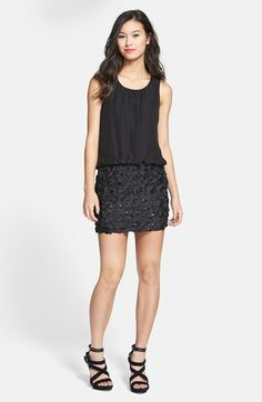 As U Wish Textured Blouson Dress (Juniors) available at #Nordstrom
