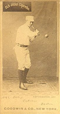 My great-grandfather Cornelius Daily. He played for 13 years for teams including the Brooklyn Bridegrooms, Boston Beaneaters and Philadelphia Keystones. He was awesome. And his brother, Ed, was too.