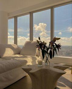 Dream Home Design, My Dream Home, Dream Apartment, Studio Apartment, Aesthetic Room Decor, Aesthetic Plants, Dream Rooms, House Rooms, Living Rooms