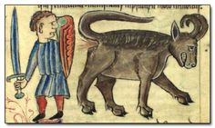 According to Cracked.com, this is a medieval goat with diarrhea farting on a squire #goatvet says no goat has such a long tail