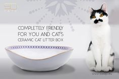 The design of ceramic cat litter boxes characterised by an appearance that is at once elegant, refined, timeless, but also modern. Litter Box, Ceramics, Boxes, Collection, Tips, Design, Cat Litter Boxes, Sandbox, Ceramica