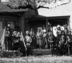 Sioux braves in war paint, South Dakota