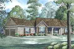 Plan 17-2520.  Description says 3 beds, but this is actually 4 beds, 2.5 baths, 2279 sq ft.  Butler's pantry, MBTH has a shower only, you can get to the laundry room from the master closet, 2nd bath has a separate tub & shower, every BR has a walk-in closet.  Huge covered rear porch, angled garage with tons of storage area.  Facade is a combo of brick, stone, board & batten.  LOVE!  LOVE!  LOVE!  Would have to use the formal DR as is, but could move piano to the great room.  THIS IS THE ONE!