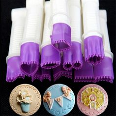 10 flower tpe lace edge clip Fondant Biscuit Cutter Decorating Sugarcraft Gum Paste Tool Cupcake Kitchen Cookie accessory 01116