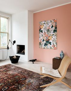 IXXI wall decoration made with the Hollyhock painting from the Victoria & Albert Museum image bank collection. Price in this example is $144.95 #ixxi #ixxidesign