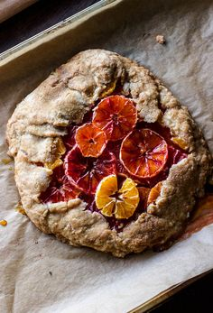 This Winter Citrus Galette is a delicious way to incorporate winter fruits. Gluten-free and refined sugar-free is a perfect for breakfast, brunch, or dessert!