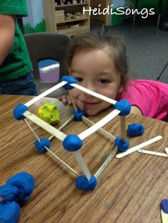 When you give children the chance to build harder #shapes, they often can surprise you!