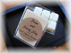 Get your tart on with heavily scented tarts from Prim and Sassy Soy