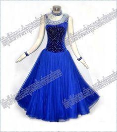 Elegant Women Ballroom tango waltz quickstep standard dance dress BLACK…