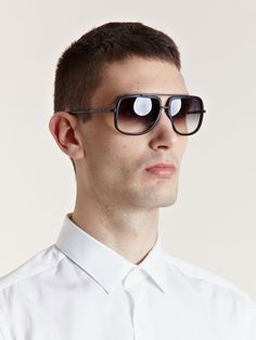 e8a0159570 LN-CC Online Store - Men s and Women s designer clothing. Dita Men s Matte  Bone Mach One Sunglasses