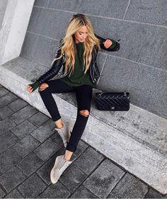 """9,309 Likes, 57 Comments - F A S H I O N Z I N E ♠️ (@fashionzine) on Instagram: """"#streetstyle via @getfashionvote @adidasoutlook  By @janinewiggert"""""""