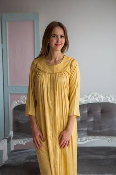 9b605f6cfe Long Solid Dusty Pastels Nighties for every woman who loves a Night Suit