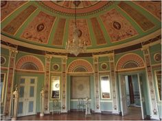 Heaton Hall Cupola Room - Now the all is closed to the public because of financial reasons.  Lets hope it doesn't end up left completely to rot.