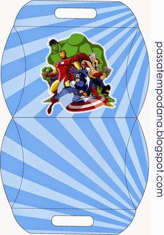 Cajas para Fiestas de los Vengadores para Imprimir Gratis.