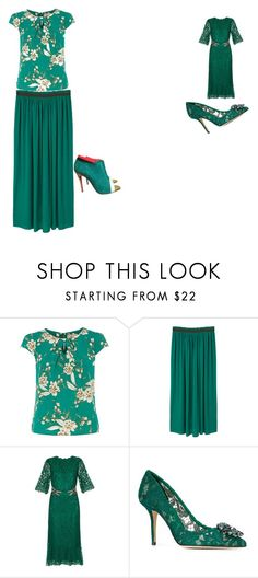 """Untitled #39"" by chinesharris on Polyvore featuring Dorothy Perkins, MANGO, Dolce&Gabbana and Christian Louboutin"