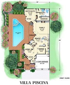 Villa Palladian Italian House Plan Courtyard House