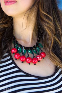Life is a bowl of Cherries #cherrynecklace #Cherries