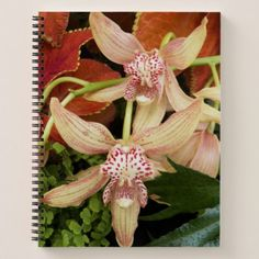 Orchids in Bloom Floral Notebook - floral style flower flowers stylish diy personalize