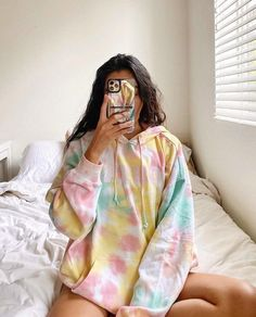Teen Fashion Outfits, Girl Outfits, Summer Outfits, Fashion Fashion, Latest Fashion, Fashion Trends, Moda Tie Dye, Trendy Hoodies, Overalls Outfit