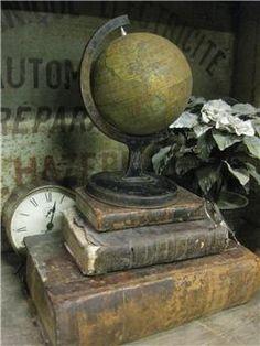 old book# vintage#old globe#