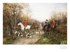 Going Through the Copse Giclee Print by Heywood Hardy at Art.com