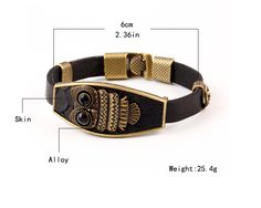 High Quality Vintage Classic Animal Owl Black Leather Charm Bracelet Acrylic eyes Alloy Easy Hook Men Bracelets Accessories   Read more at Bargain Paradise : http://www.nboempire.com/products/high-quality-vintage-classic-animal-owl-black-leather-charm-bracelet-acrylic-eyes-alloy-easy-hook-men-bracelets-accessories/