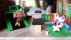 How to Make an LPS Gym, Water Bottle, Weights, Yoga, Workout: Doll DIY