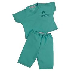 Hospital Outfit? Big Brother My First Scrubs - Lab Green - 6  - Princess Linens -  Gifts for Big Brother - FAO Schwarz®