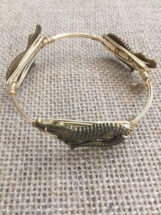 Bourbon and Boweties Bronze Alligator Bangle Large Wrist