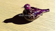 FINLAND IITTALA Glass Bird- Oiva Toikka - Purple Tern- Tiiri    Note:  Purple variant