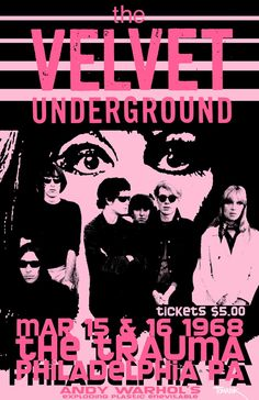 The Velvet Underground at Andy Warhol's Exploding Plastic Inevitable - 1968 concert poster