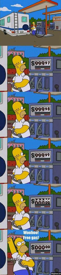 Simpsons Tip: Free Gas!