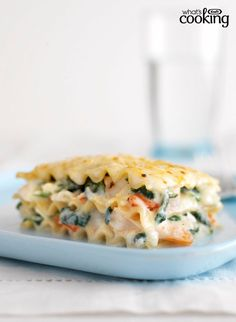 Just 30 minutes of prep and you've assembled this No-Fail Baked Seafood Lasagna #recipe. Tap or click photo for recipe.