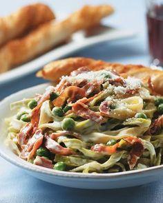 Tagliatelle with Peas & Prosciutto