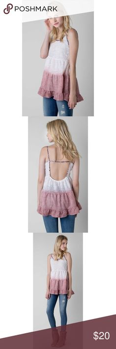 NWOT GIMMICKS BY BKE DIP DYE TANK TOP This top is NEW WITHOUT TAGS. Perfect conditions. Perfect for the spring and summer.cute boho design. Open back. In for is in 4th picture. I always accept reasonable offers❤️❤️❤️ BKE Tops Tank Tops