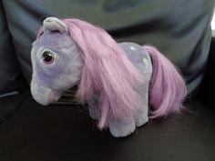 "Hasbro softies vintage 1984 My Little Pony Blossom Purple Soft Toy 8x10"" Inches #Hasbrosofties"