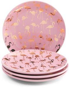 Flamingo App, Flamingo Decor, Flamingo Party, Pink Flamingos, Flamingo Dress, Flamingo Gifts, Appetizer Plates, Rose Pastel, Pink Bird