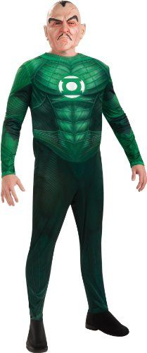Rubie's Costume Co Men's Green Lantern Adult Deluxe Sinestro Costumes With Muscle Chest, Green, X-Large Best Reviews