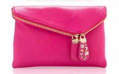 Launching @HenriBendel in November: Debutante Asymmetrical Clutch in Pink. Need.