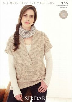 Sirdar--Tank Top - nice layering piece - simple to knit in dk