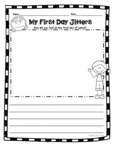 First Day Jitters FREEBIE, Back to School, First Day of School, Portfolio Sample